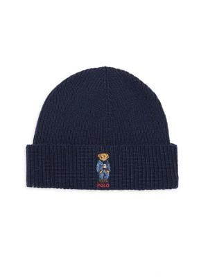42f8f6b54533c POLO RALPH LAUREN Wool   Cashmere Embroidered Bear Beanie.  poloralphlauren