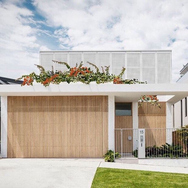 Our Two Storeys On Instagram Love The Linear Look Of This Facade Fresh Modern And Simple Beach House Exterior Modern House Facades Facade House