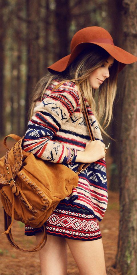 knit camel backpack and i love love love this sweater and hat http://rstyle.me/n/ji57mr9te