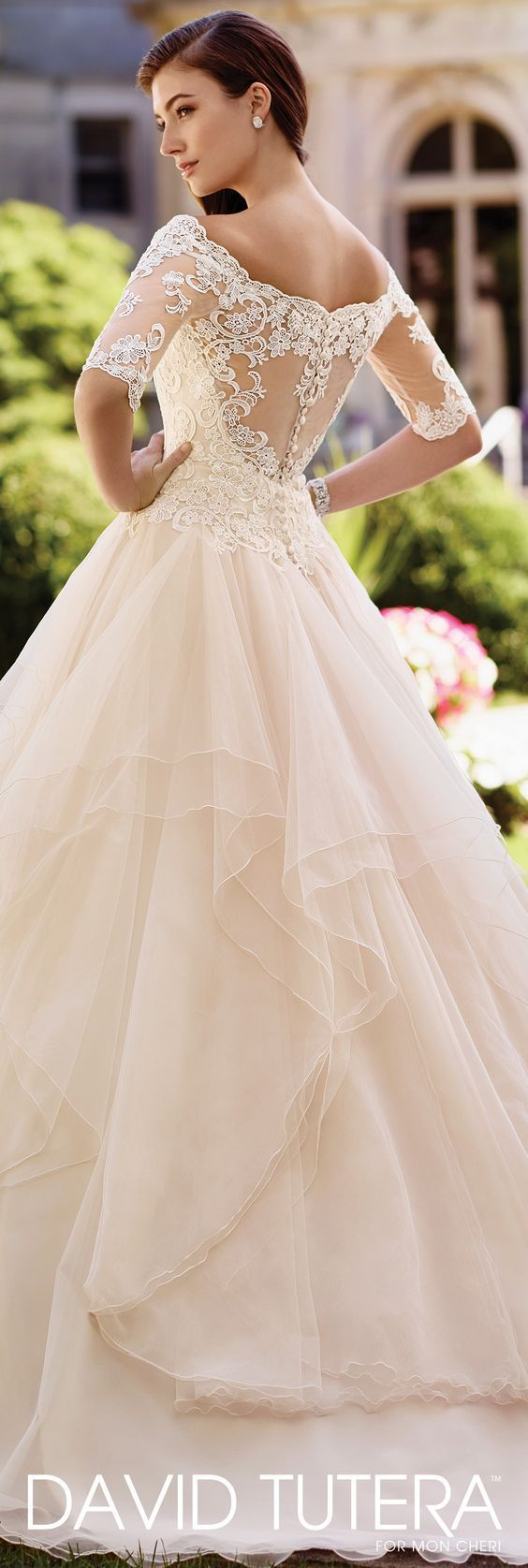 Wedding Dress by David Tutera for Mon Cheri 2017 Bridal Collection | Style No. » 117292 Aurelia
