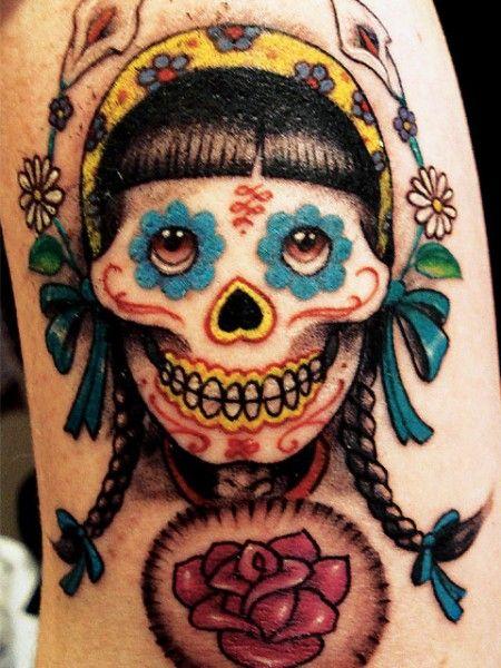 Fotos de tatuagem Dia dos Mortos