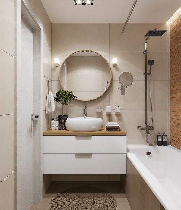 How To Plan The Design Of A Small Bathroom Floating Vanity Cabinet