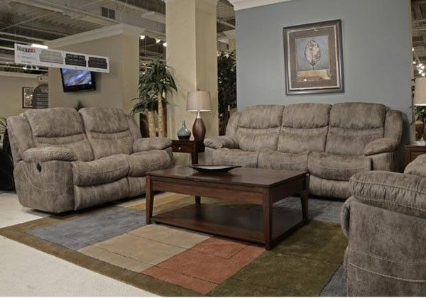 Catnapper - Valiant 2 Piece Power Reclining Sofa Set in Marble - 614045-2SET-MARBLE