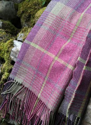 Cairngorm Wool/Cotton Throw. Possible fabric type and colour for the re cover job for the sofa and chairs.