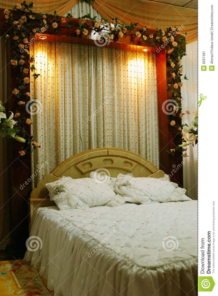 45 best Wedding Bed Decoration images on Pinterest