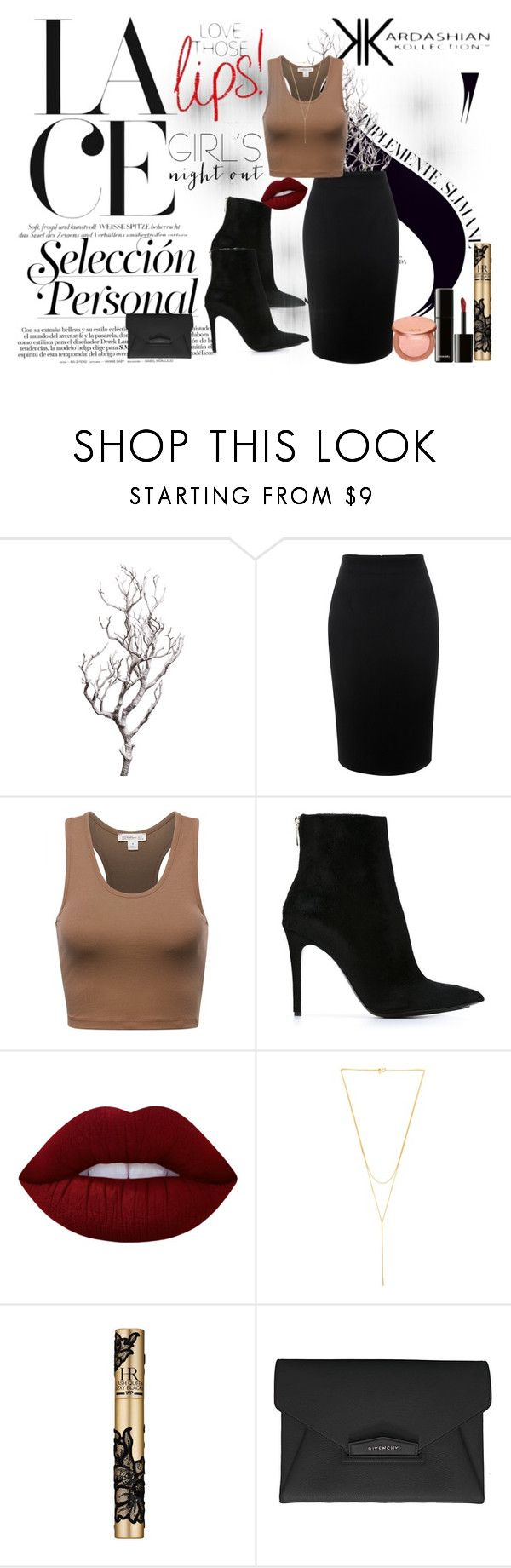 """KK"" by camilaveine ❤ liked on Polyvore featuring Kardashian Kollection, Amara, Alexander McQueen, Barbara Bui, Lime Crime, Gorjana, Helena Rubenstein, Chanel, Givenchy and tarte"