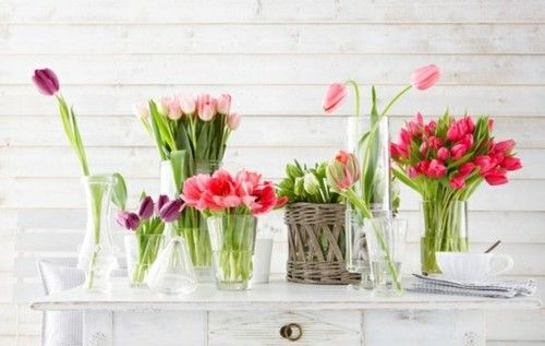 Gorgeous tulip arrangements: Ideas, Spring Flower, Picket Fence, Tulip, Flower Arrangements, Paintings Flower, Fresh Flower,  Pale, Favorite Flower