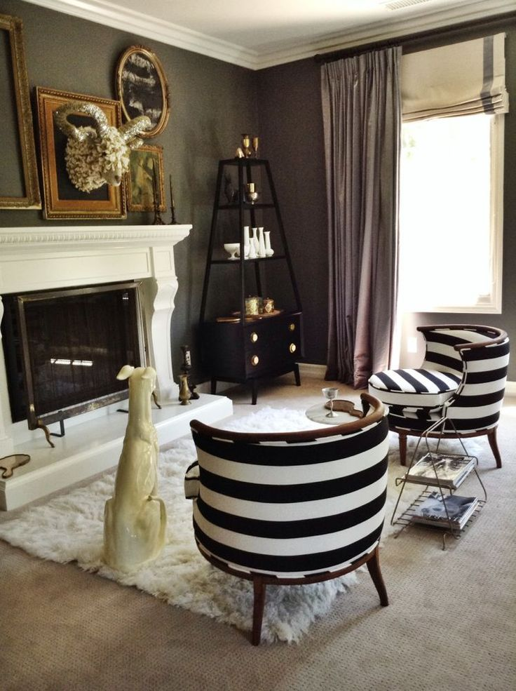 Striped Chairs The Happy House Pinterest Wall Mount Eclectic Living Ro