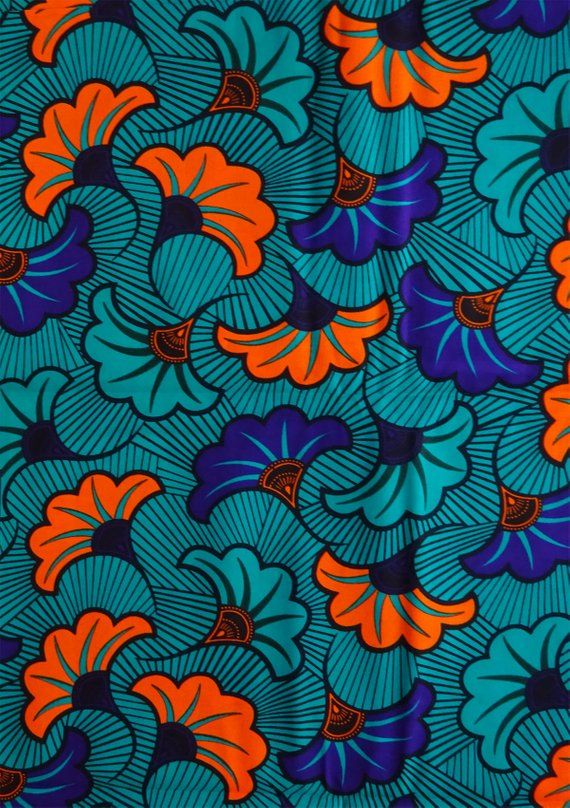 African wax fabric fleurs african fabric by the yards Ankara fabric