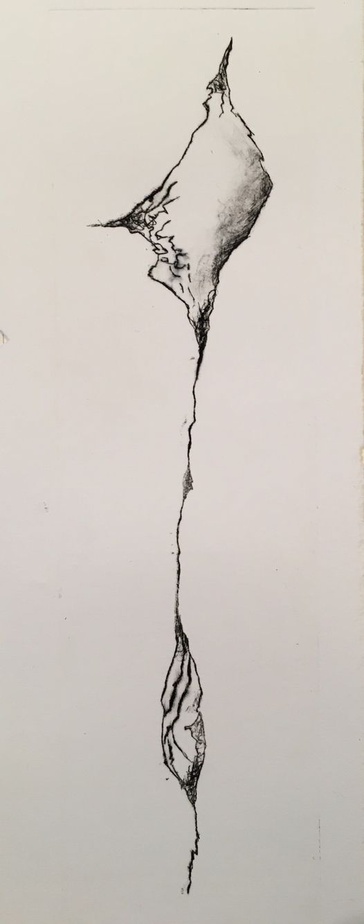 Etching print ( 2016 ) by  Birgitte Miljeteig