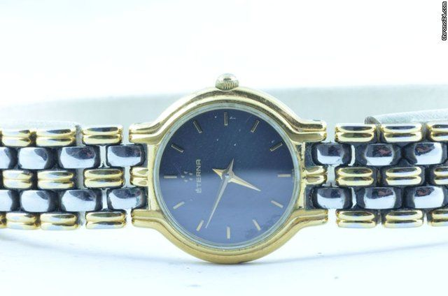Eterna  ad: $346 Eterna Damen Uhr Stahl/gold 24mm Top Rar  Mit Stahl Armband Steel; Quartz; Condition 2 (fine); Location: Germany, Halle Saale