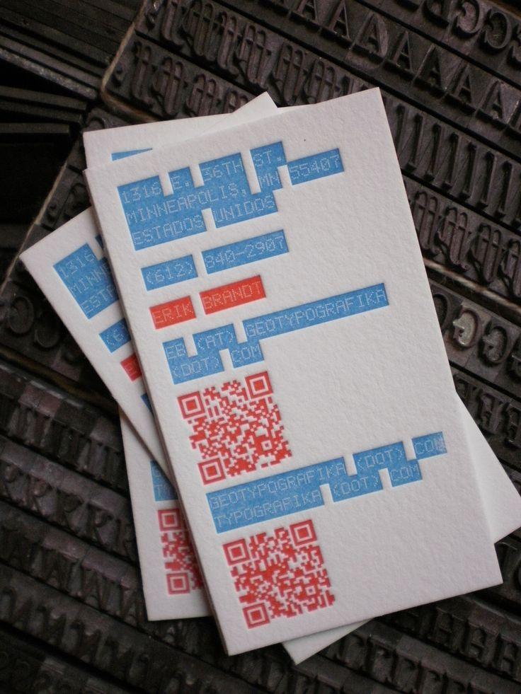 64 best Letterpress Business Cards images on Pinterest | Embossed ...