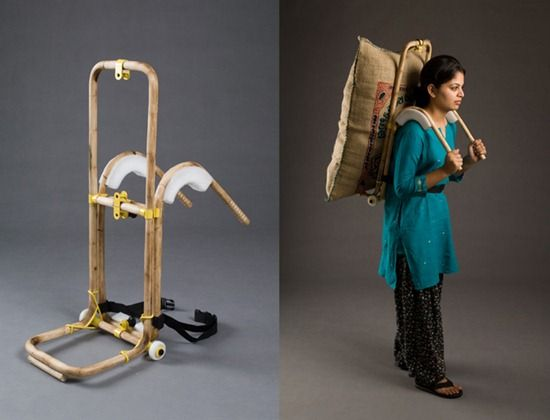 This push cart/backpack won the Innovation by Indian award for best product design.