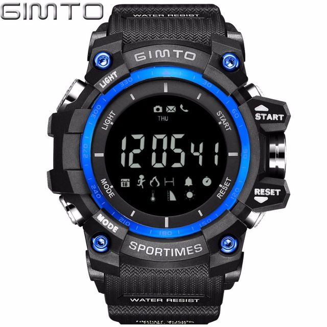 Good price Brand Men Digital Watch Waterproof LED Shock Sports Smart Watches Pedometer Altimeter Military Stopwatch Diving Clock Bluetooth just only $19.90 with free shipping worldwide  #menwatches Plese click on picture to see our special price for you