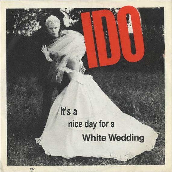 Billy Idol White Wedding Lyrics: Billy Idol White Wedding Album Cover Card
