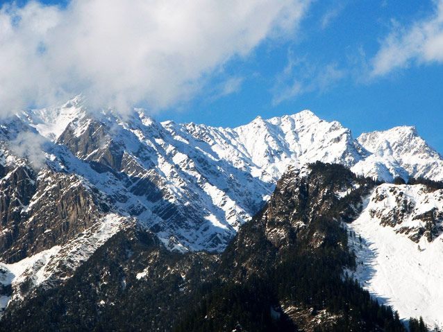 The largest mountain range in the world  ''The HIMALAYAS""