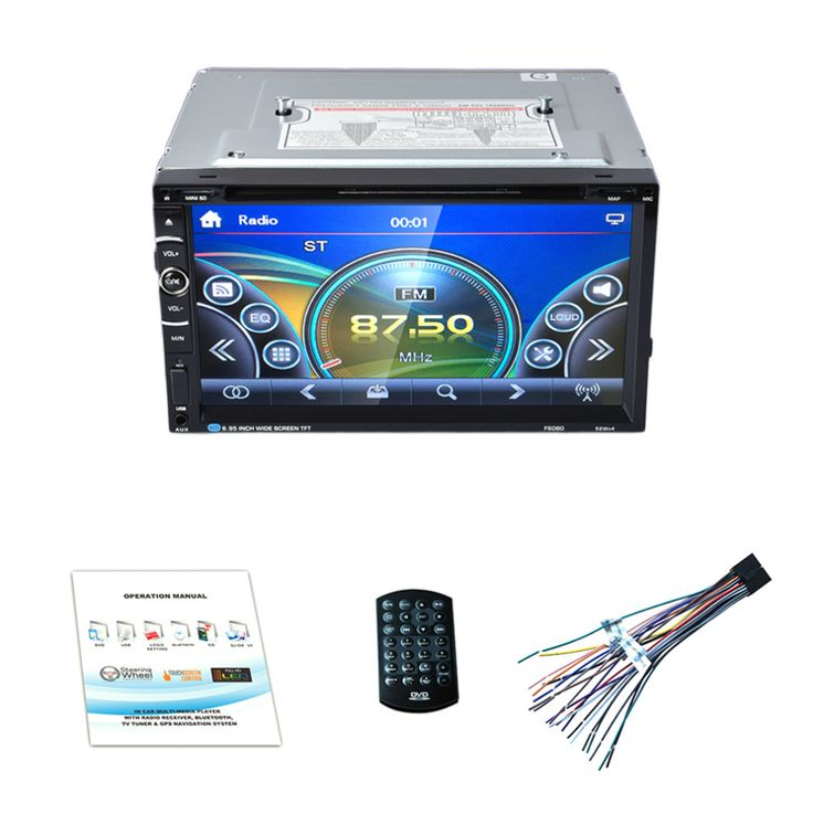 HOT Android 7in Double 2Din 800 * 480 Car Radio Universal Without GPS DVD Car Audio Car Stereo Auto USB Bluetooth Radio FM 45W*4