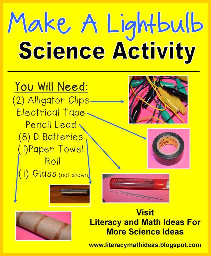 Free: Science activity~Make a lightbulb