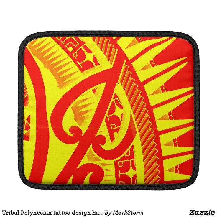 Tribal Polynesian tattoo design handdrawn polyart Sleeve For iPads