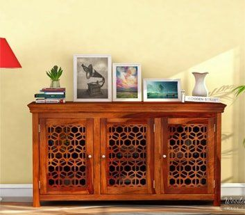 Find rich range of wooden dining room furniture online for perfectly setteled dining area. The dining room cabinets are important commodity to place all the dining accessories in proper way. Shop various dining room furniture online like this amazing dining cabinet in #Gurgaon #NaviMumbai #Bhopal