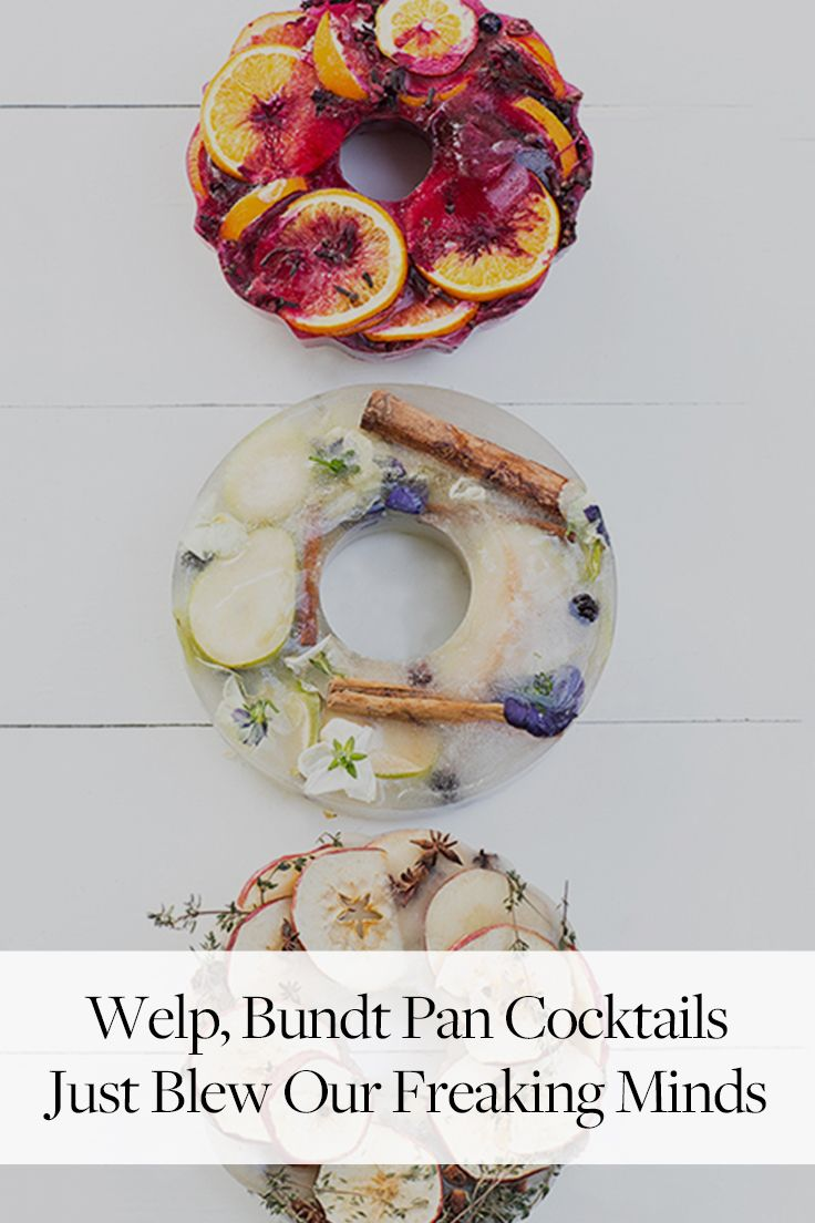Welp, Bundt Pan Cocktails Just Blew Our Freaking Minds via @PureWow