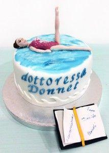 Torte di laurea - torta nuoto sincronizzato  Sincronette cake