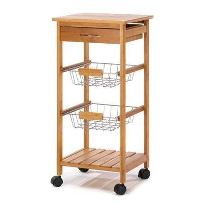Great Kitchen Cart  #bamboo #treehugger  #savetheplanet #climatechange #plantatree