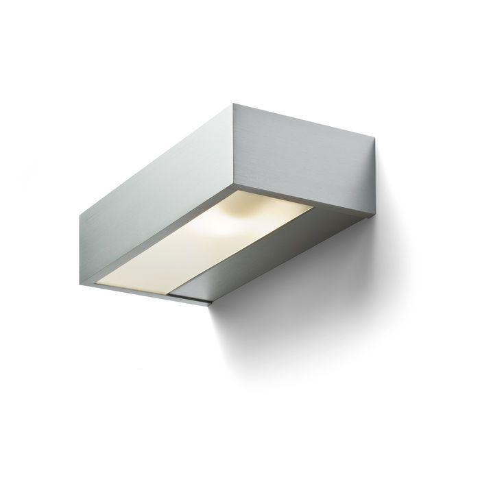 PRIO - Nástenné hliníkové svietidlo s tienidlami zo satinovaného skla. Typ svietenia UP / DOWN.