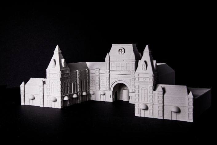 3d printed scale model of a building