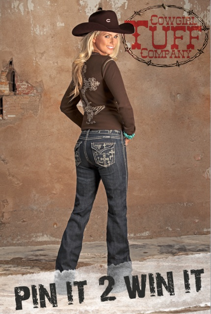 "Re-Pin 2 Win these Cowgirl Tuff ""Believe & It's Possible Tan"" Jeans that are retailed for $96 . Every pair of these jeans purchased we will donate five dollars to Western Wishes Charity. Happy Pinning!"