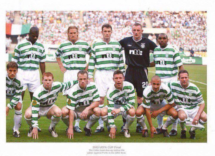Celtic team 2003 uefa cup final. Seville