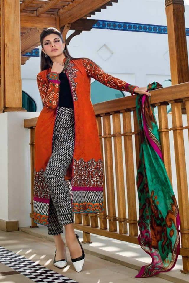 Summer dress designs 2016 in pakistan red