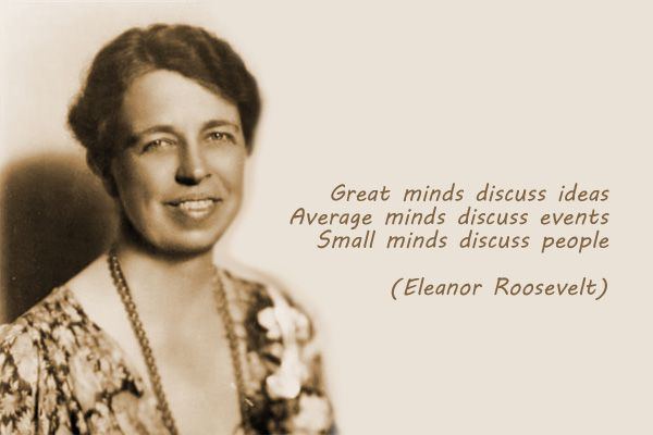 Great Minds Eleanor Roosevelt Quotes. QuotesGram