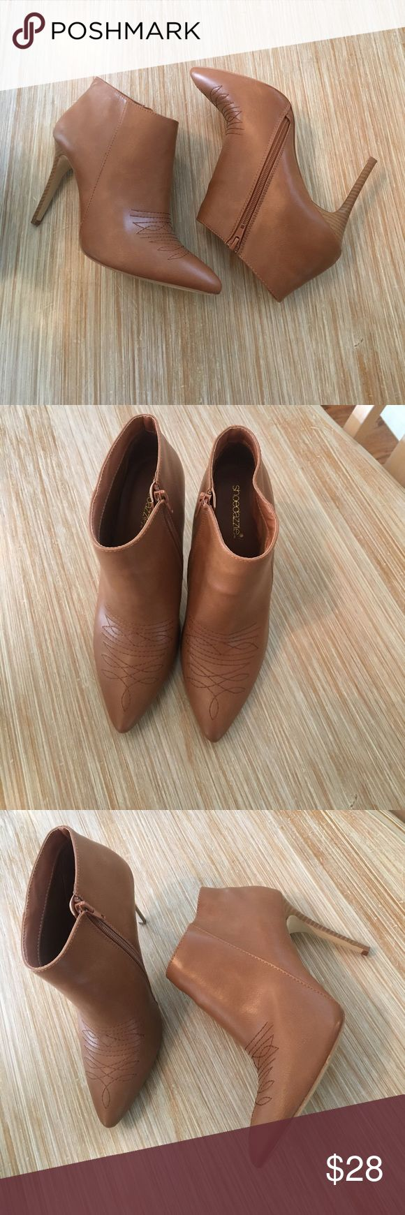 Shoe dazzle booties Size 8.5 heeled booties. In great condition worn a few times Shoe Dazzle Shoes Ankle Boots & Booties