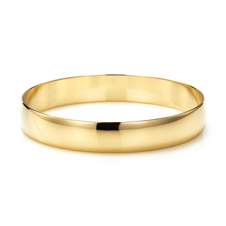 18ct Yellow Gold Layered Plain Extra Wide Bangle | Allure Gold