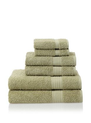 55% OFF Savannah by Chortex 6 Piece Towel Set, Green
