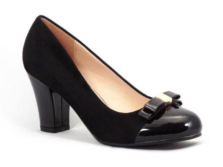 Pantofi dama negri toc de 7 cm Gonya la pretul de 89 RON. Comanda Pantofi dama negri toc de 7 cm Gonya de la Biashoes!
