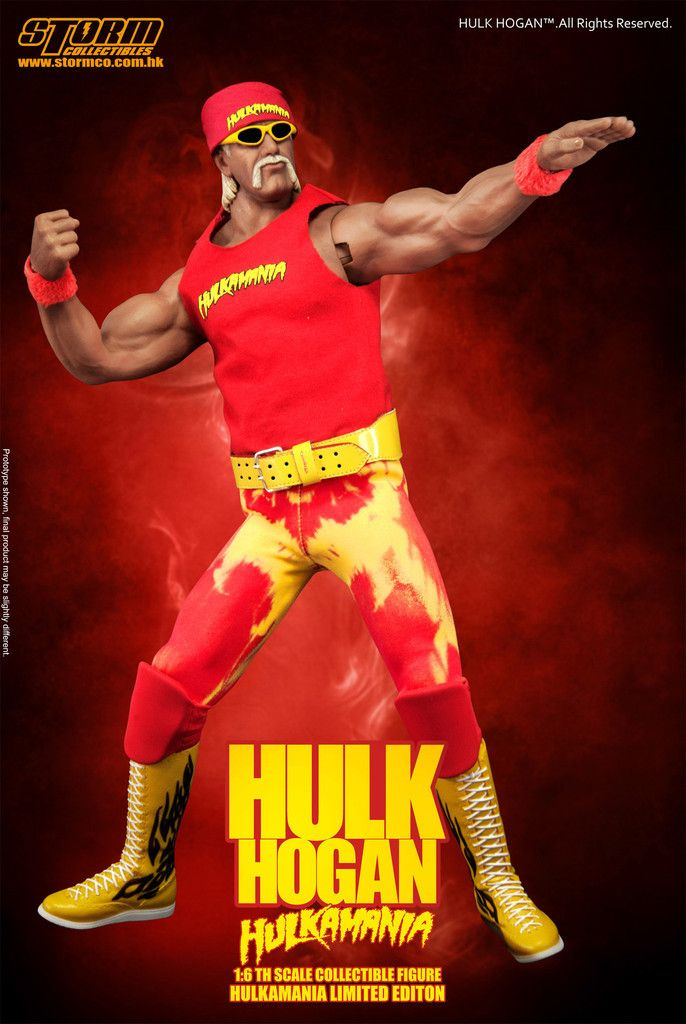 PRE-ORDER 1/6 Scale Hulk Hogan Hulkamania Figure by Storm Collectibles