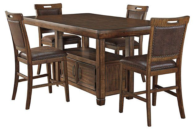 Royard 5 Piece Dining Room Package In 2020 Room Packages Leather Furniture Dining Room