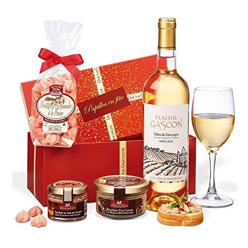 Ducs de Gascogne – petit cadeau gourmand «Trésor» – comprend 3 produits d'épicerie fine et 1 vin