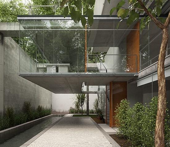 Carapicuiba House - designed by Angelo Bucci and Alvaro Putoni