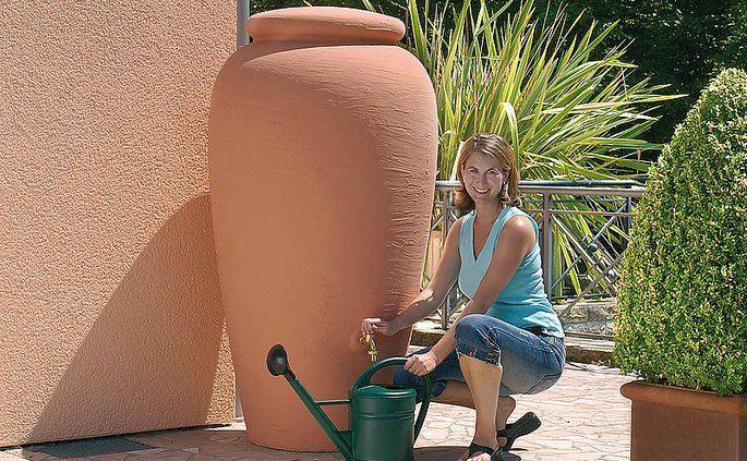 Nádrž na zber dažďovej vody Amfora  terracota