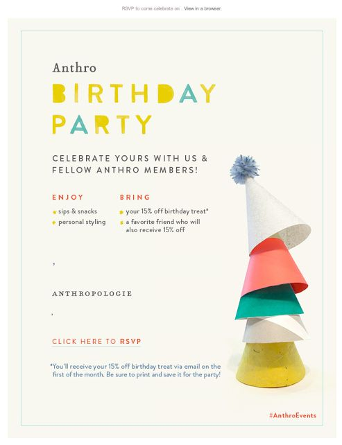 165 best emails anniversaire images on pinterest birthday email birthday party email 2014 anthro stopboris Gallery