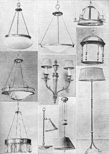 Period lighting examples for the 1919 bungalow.
