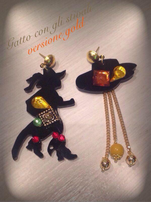 Kit orecchini Gatto con gli Stivali
