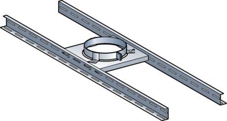 Support plancher Poujoulat pour conduit therminox   Fumisterie