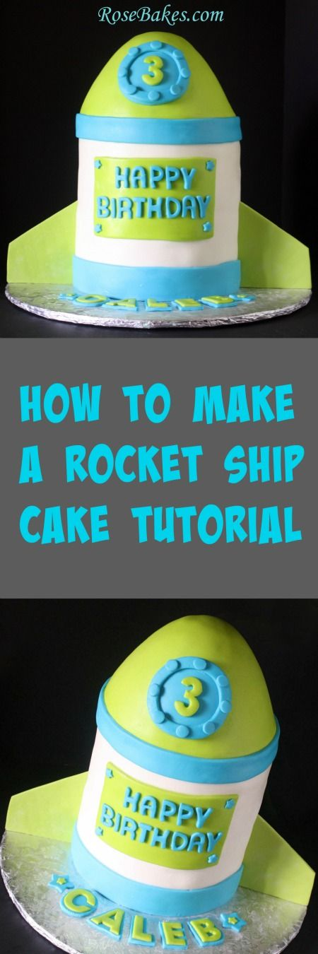 How to Make Rocket Ship Cake Picture Tutorial.