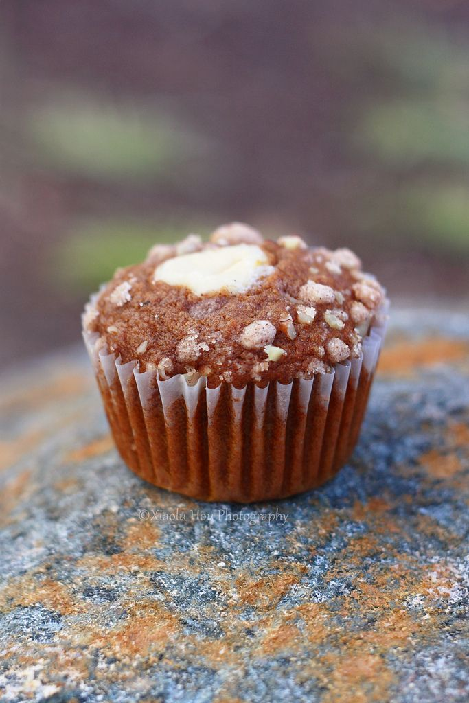 Pumpkin Nut Spice Muffins with Cream Cheese Filling. #food #muffins # ...