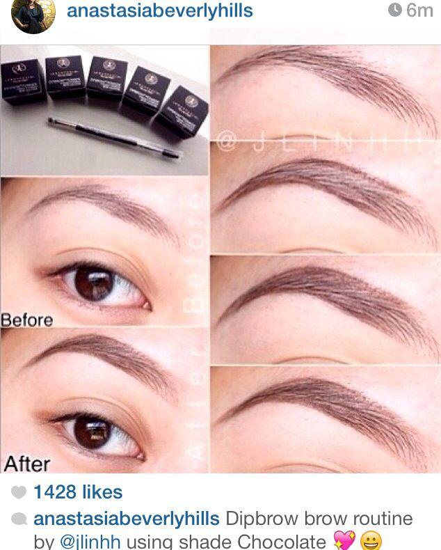 Anastasia Beverly Hills - Dip Brow Pomade routine   Makeup ...