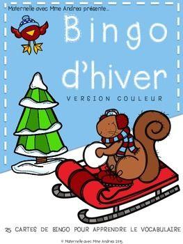 Bingo d'hiver! Travailler les mots de vocabulaire d'hiver avec ce jeu amusant et facile à préparer